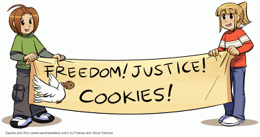 [0113] Freedom! Justice! Cookies!